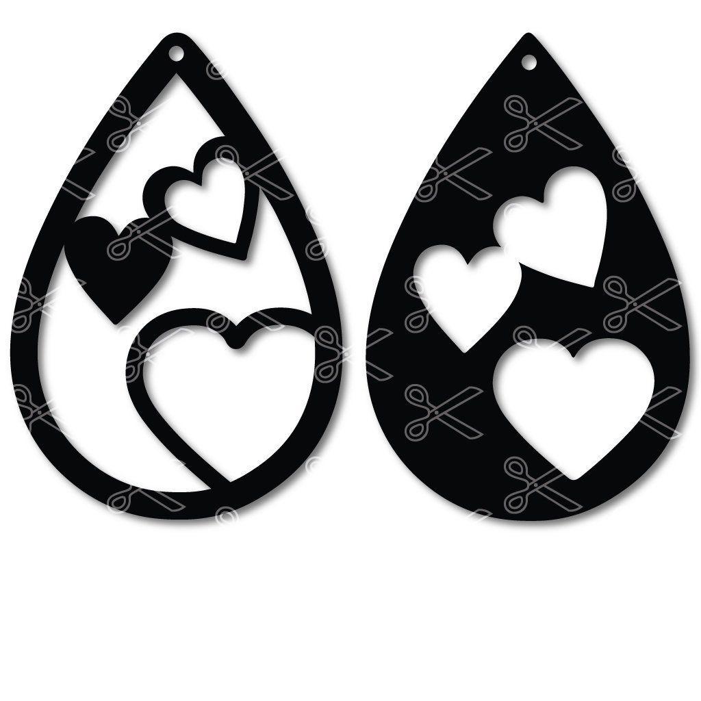 Download TearDrop Earrings bundle SVG DXF | Diy leather earrings ...