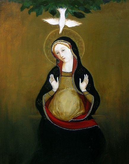 Resultado de imagen para a Virgen María y el Espíritu santo