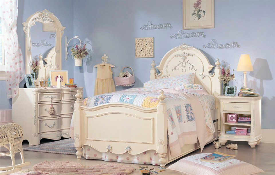 little girls bedroom sets girls bedroom set victorian creamy ...