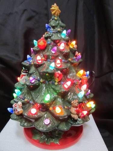 Christopher Radko Lighted Ceramic Christmas Tree Toy Ornaments Extra Lights Box Ebay Christmas Tree Toy Ceramic Christmas Trees Christmas Tree