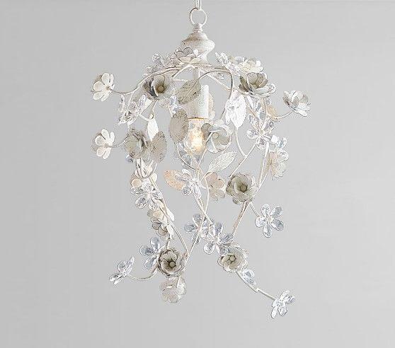 buy popular 109e9 f1392 Rachel Ashwell Metal & Crystal Flower Chandelier | Rachel ...