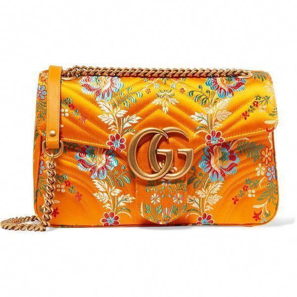 Gucci GG Marmont medium quilted floraljacquard shoulder bag 1510 liked  Gucci Bag  Ideas of Gucci Bag  Gucci GG Marmont medium quilted floraljacquard shoulder bag 1510 li...