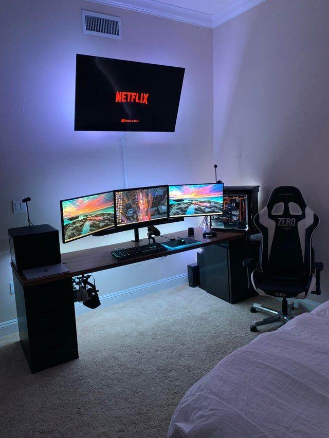 Reddit The Front Page Of The Internet Bedroom Setup Video Game Room Design Gaming Room Setup