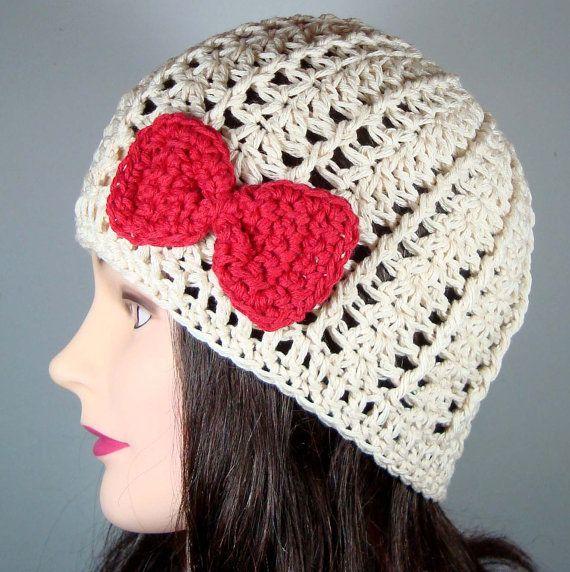 Hello Kitty Inspired Crochet Hat  c33789ded2c