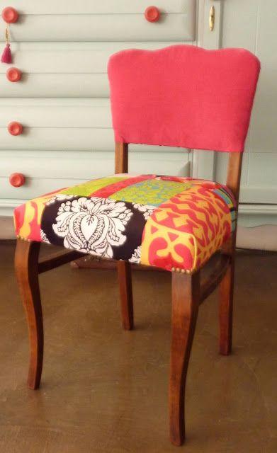 Silla antigua restaurada y retapizada mis laburos pinterest upholstery hand painted - Sillas antiguas restauradas ...