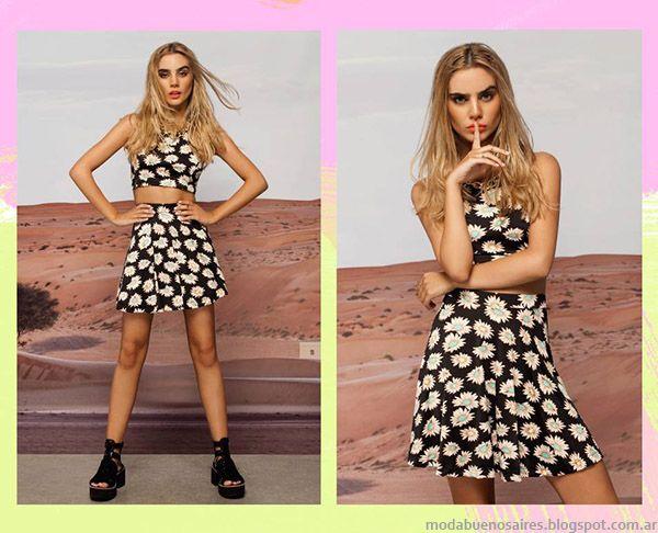 ca5dd417c Peuque primavera verano 2015 faldas y tops. Moda juvenil 2015.