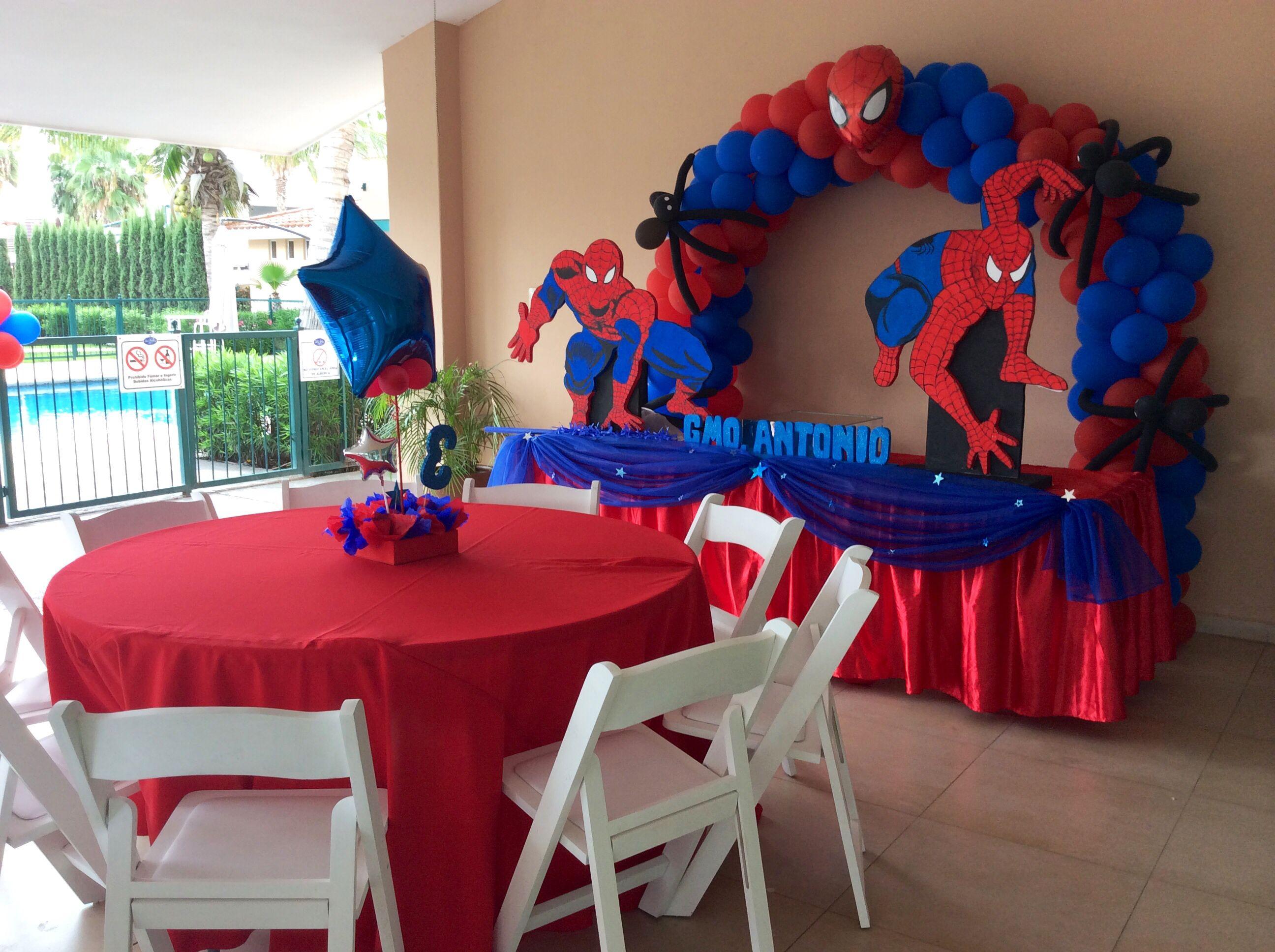 Decoración Spiderman Arco Y Mesa Decoración Eventos Norma