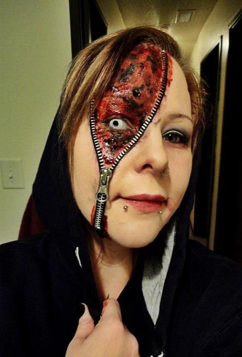 Maquillage Halloween Zipper.Pin On Halloween