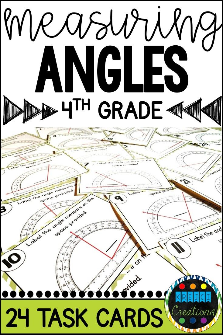 Measuring and Constructing Angles Task Cards Task cards