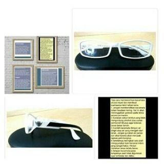 Frame Kacamata Pria Wanita Constantine Warna Putih High Quality