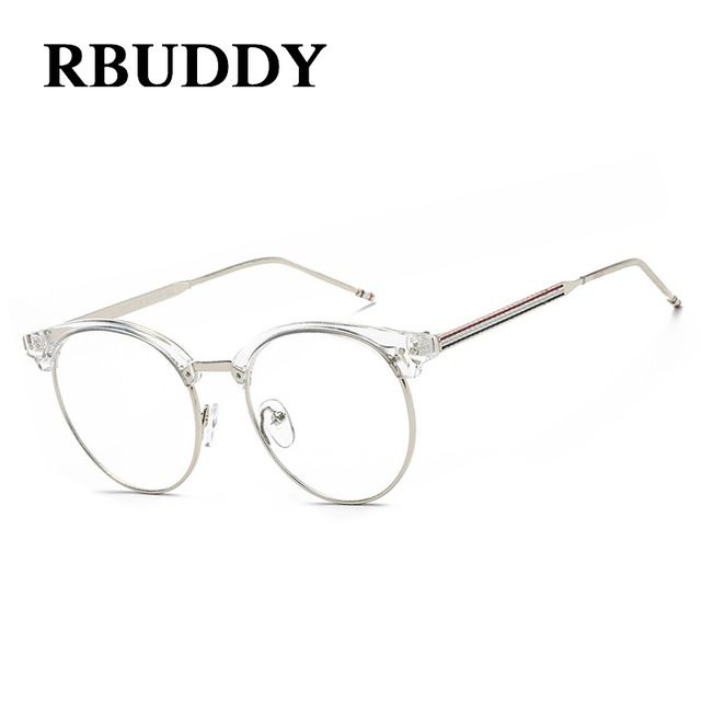 big discount 515 buy rbuddy clear glasses frame alloy striped computer glasses fake clear lens - Discount Designer Eyeglass Frames