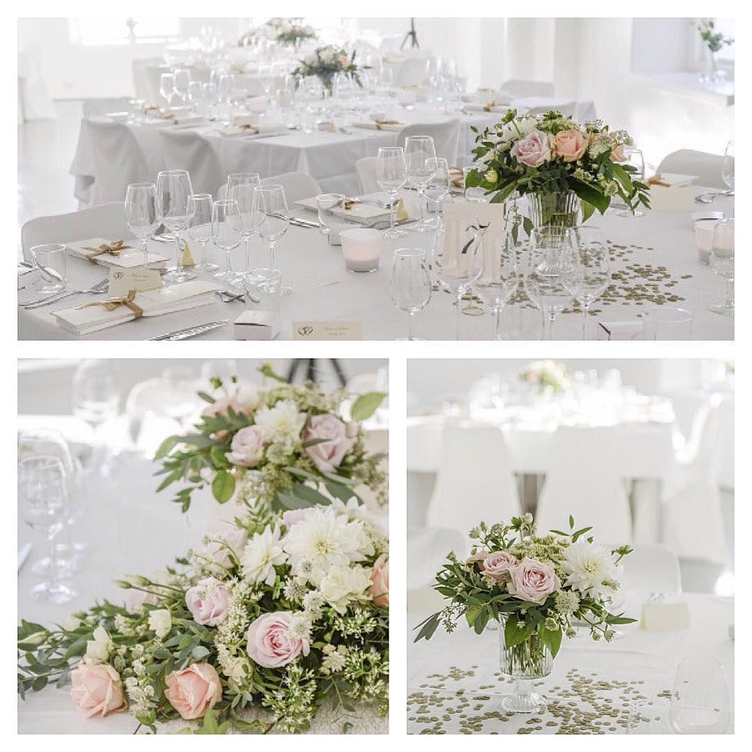bordsdekoration blommor bröllop