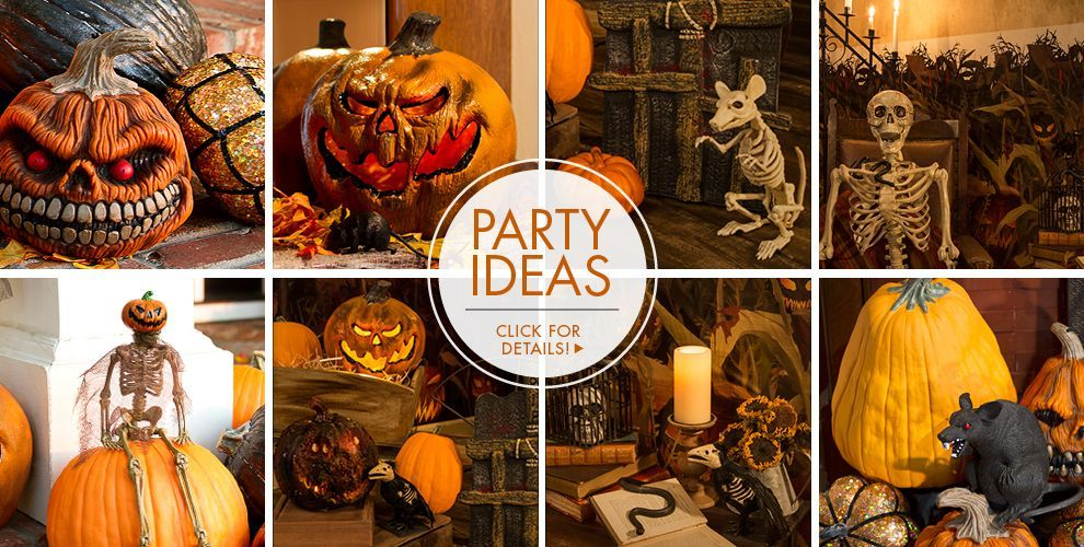 Scary Pumpkins Halloween Decorations \u2013 Party Ideas, Click For - halloween decorations party