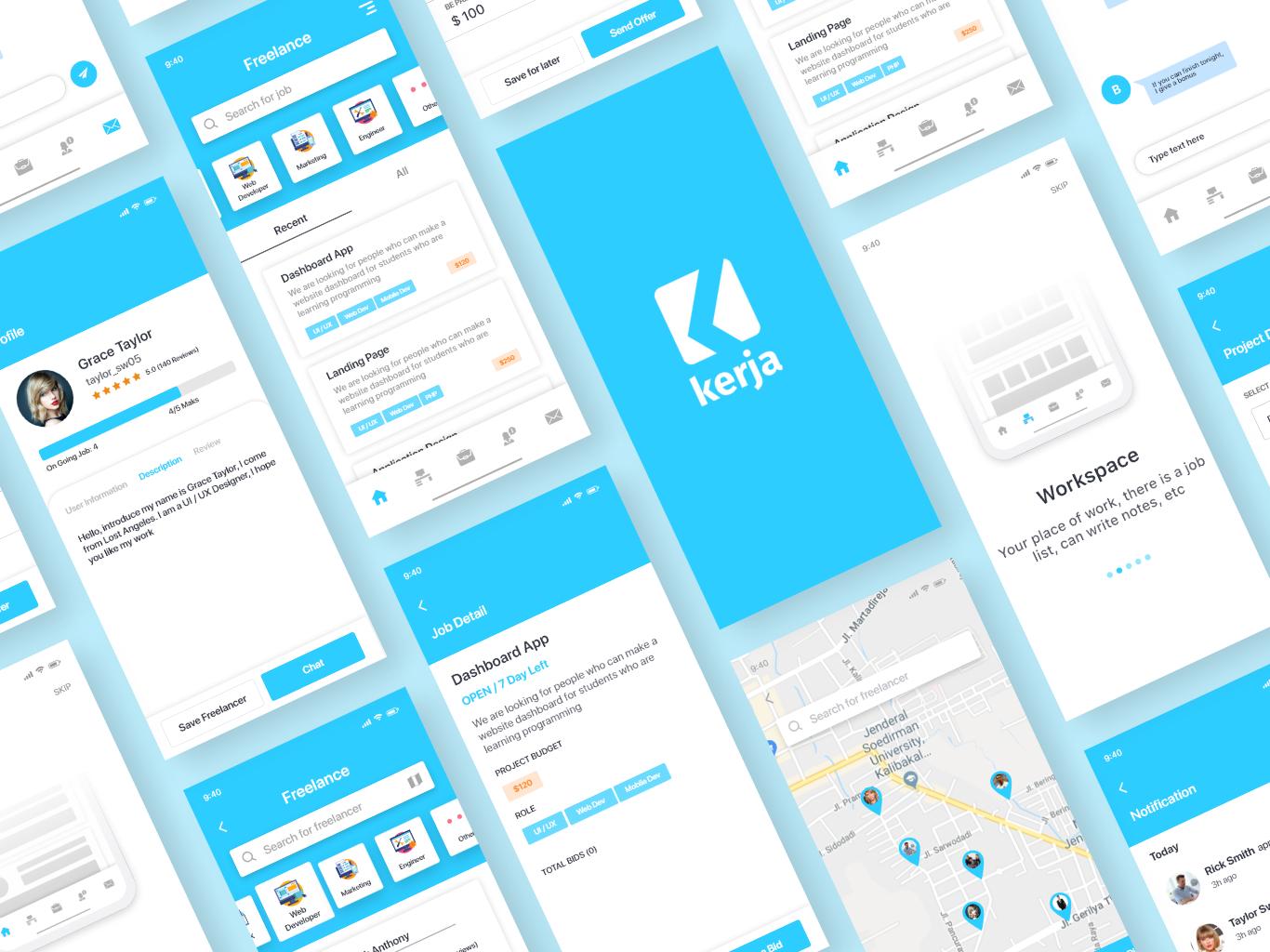 Freelance App App Freelance App Design