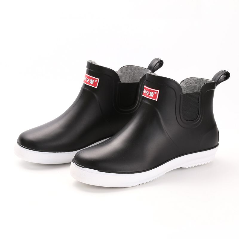 2017 new rainboots male bot short tube low rain boots waterproof fishing  boots Water bot rubber
