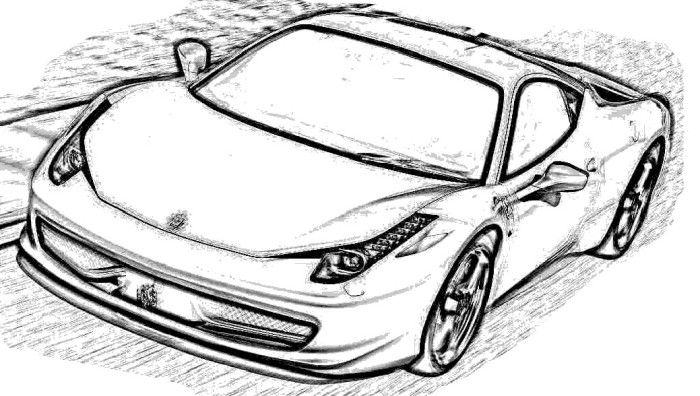 ferrari 458 italia coloring page coloring page - Ferrari Coloring Pages