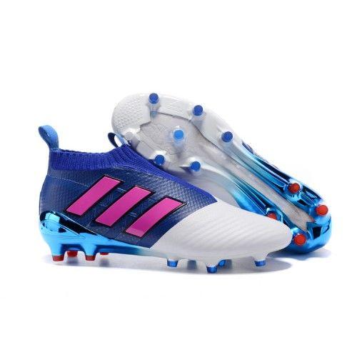 new arrival 22a75 f089b Adidas ACE 17 PureControl FG Fußballschuhe Blau Rosa Weiß