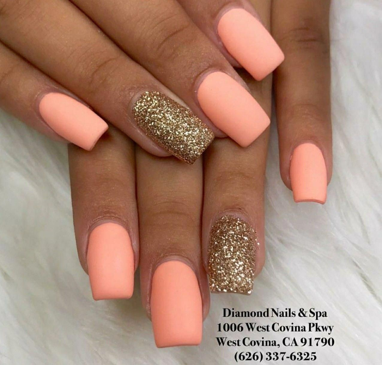 Summer Nails Acrylic Acrylic Nails Designs For Summer Be It Short Long Almond Shaped Stiletto Square S Gold Glitter Nails Square Acrylic Nails Square Nails