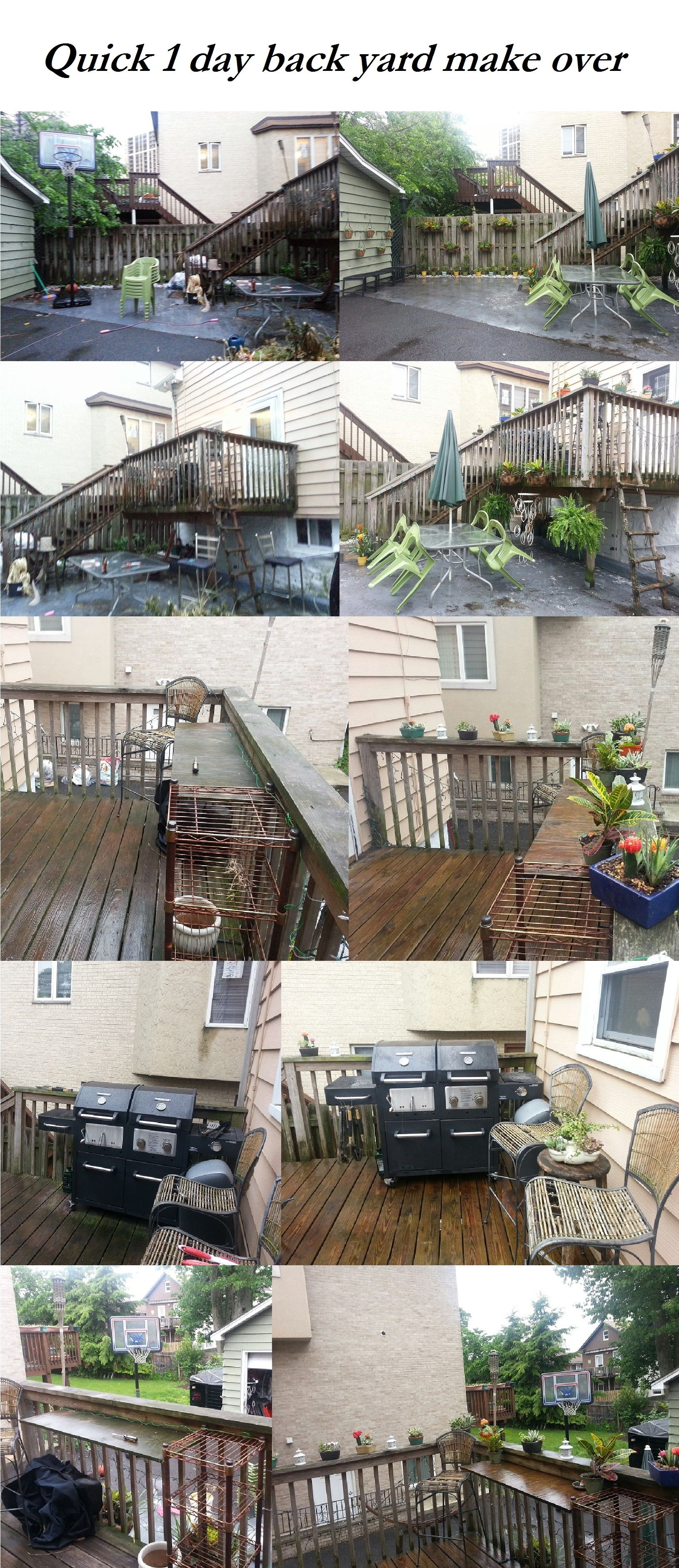 1 day back yard make over on a small budget