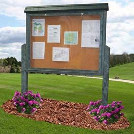 Polly Products Outdoor Enclosed Message Boards Outdoor