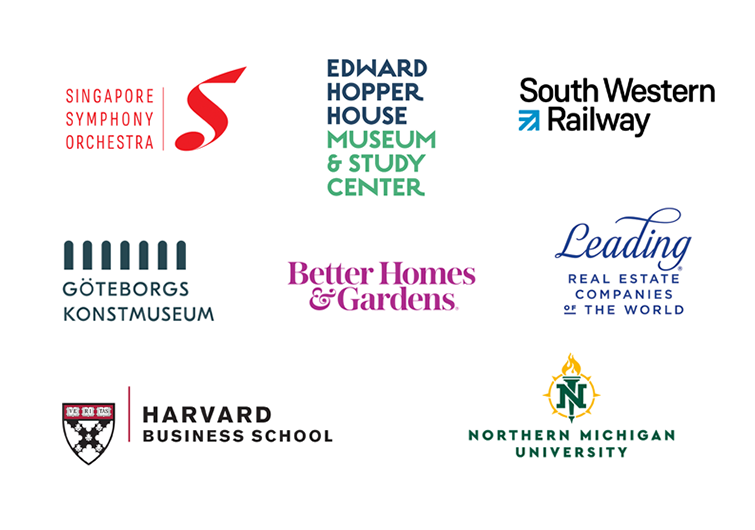 Logos With Long Company Names Examples And Approaches Text Logo Design Examples Of Logos Business School Logo