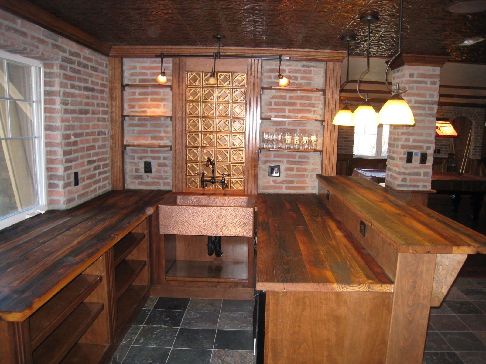 Basement Pub Beyond The Goal Was To Mimic A English Pub So We Designed A Wet Bar Pub Interior Home Pub Restaurant Interior
