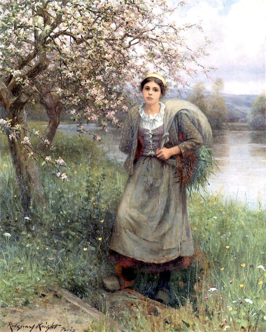 Apple Blossoms in Normandy  Daniel Ridgway Knight