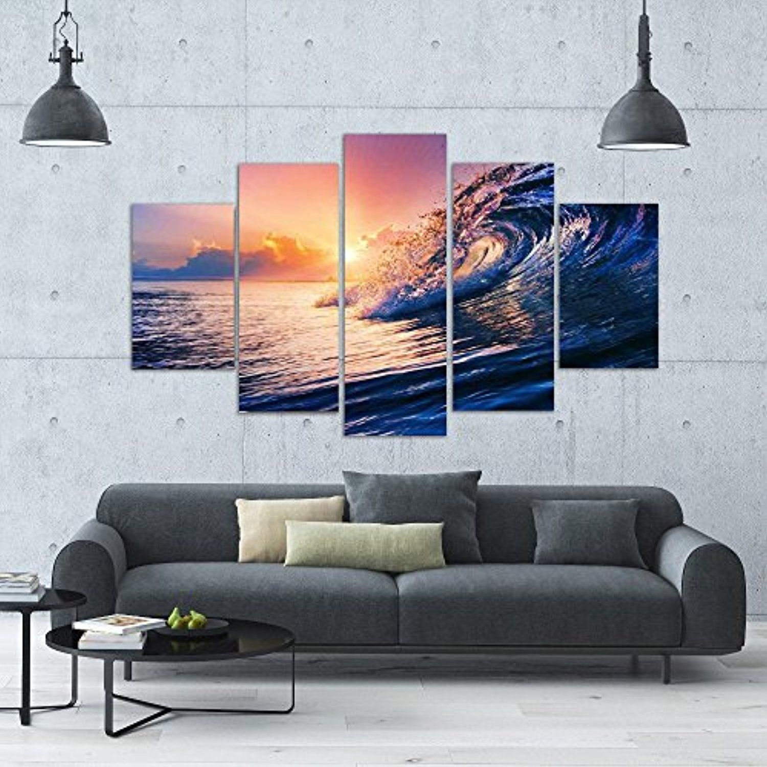 Large premium quality canvas printed wall art poster pieces wall