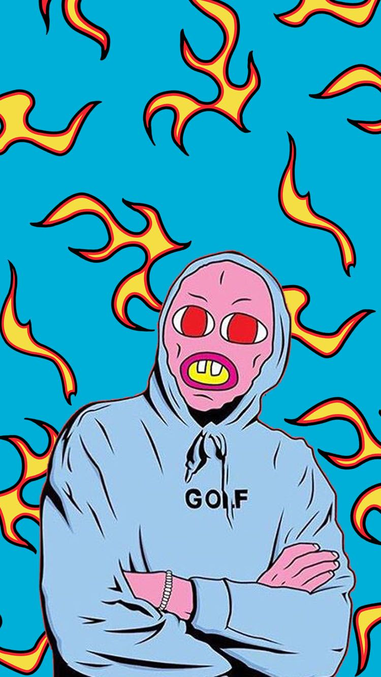 Golf Wang Flame Wallpaper Free Download Tylerthecreator Golfwang Ofwtkgta Dark Iphone