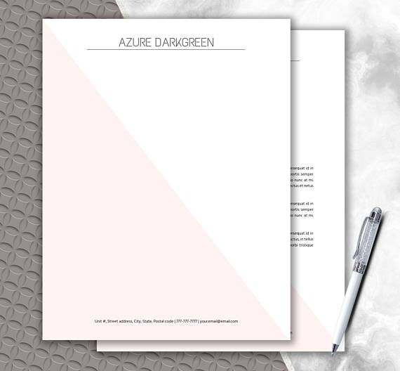 Elegant Stationery Download  Modern Letterhead Template  Writing