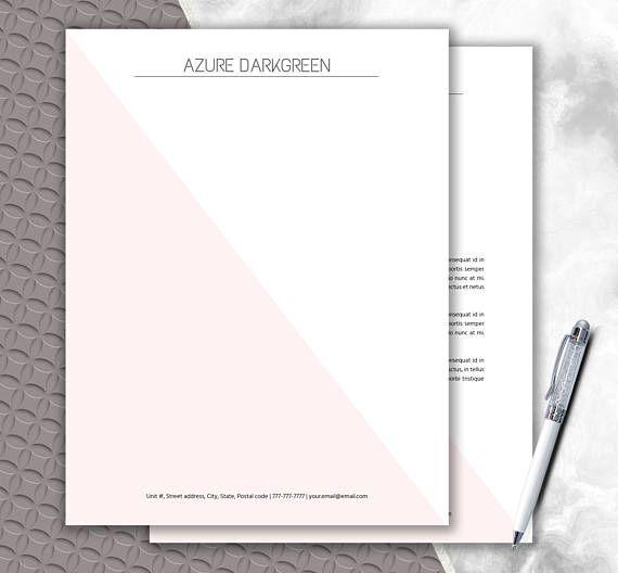 Elegant Stationery Download   Modern Letterhead Template ...