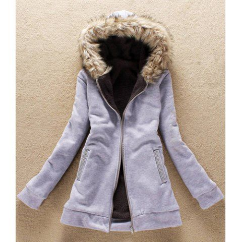 Casual Solid Color Reinestone Pockets Thicken Women's Hoodies