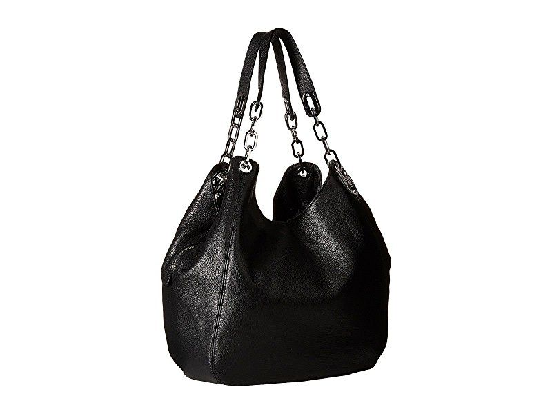 86853f230041 Amazon.com  MICHAEL KORS Fulton Leather Large Tote Shoulder Handbag  (Black)  Shoes