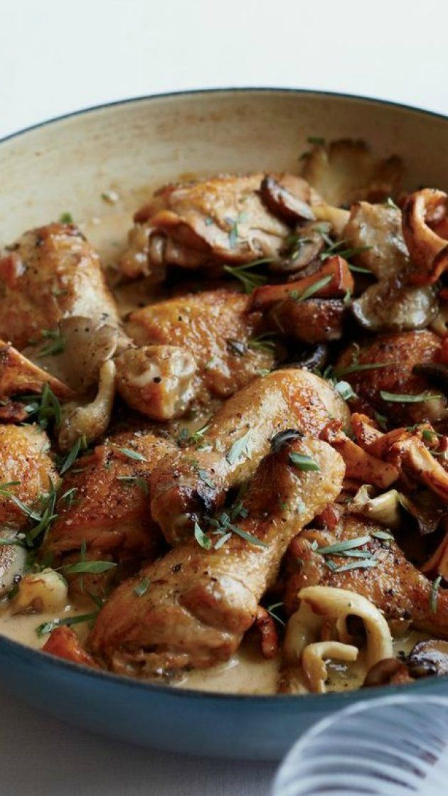 Coq Au Riesling Recipe Chicken Bones Food And Food And Drink