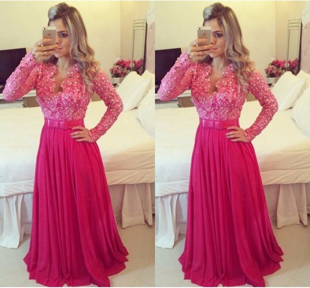 Long sleeve prom dress burgundy longsleeve dress pinterest