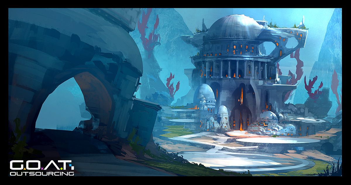 Underwater Illustration Google Search Underwater City Concept Art Environment Concept Art
