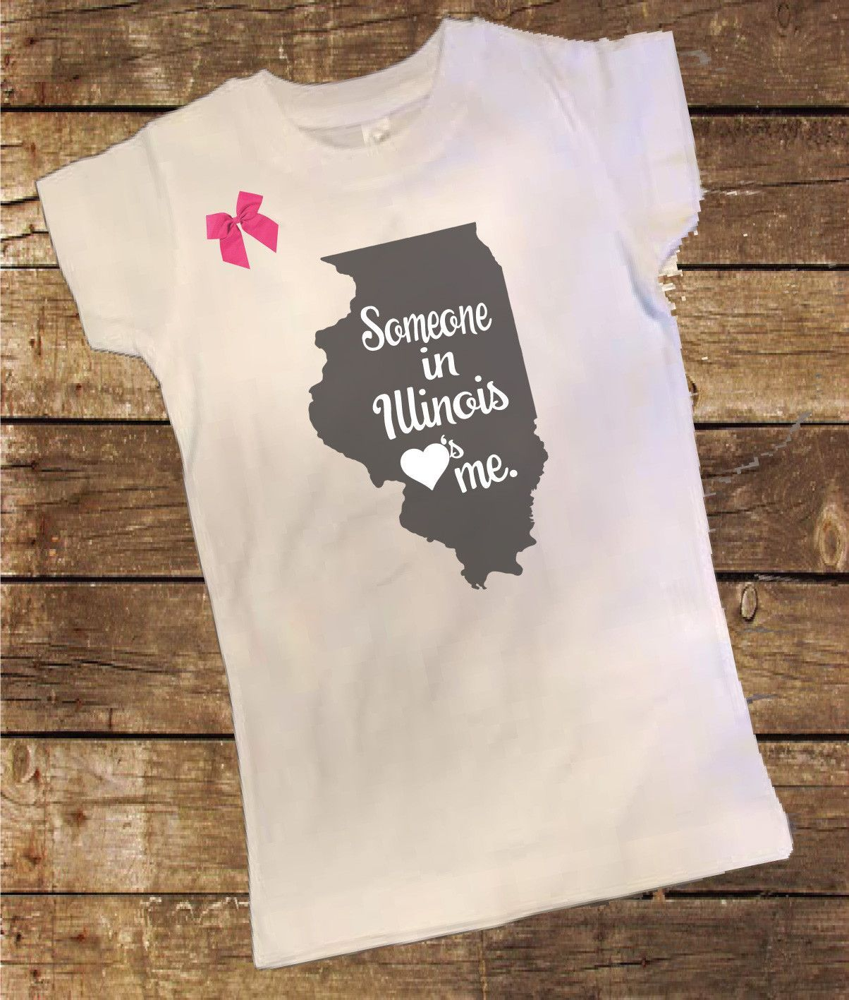 cfdcb382 Illinois Someone Loves me Shirt with Bow. More information. Saved by. Little  Mac Boutique