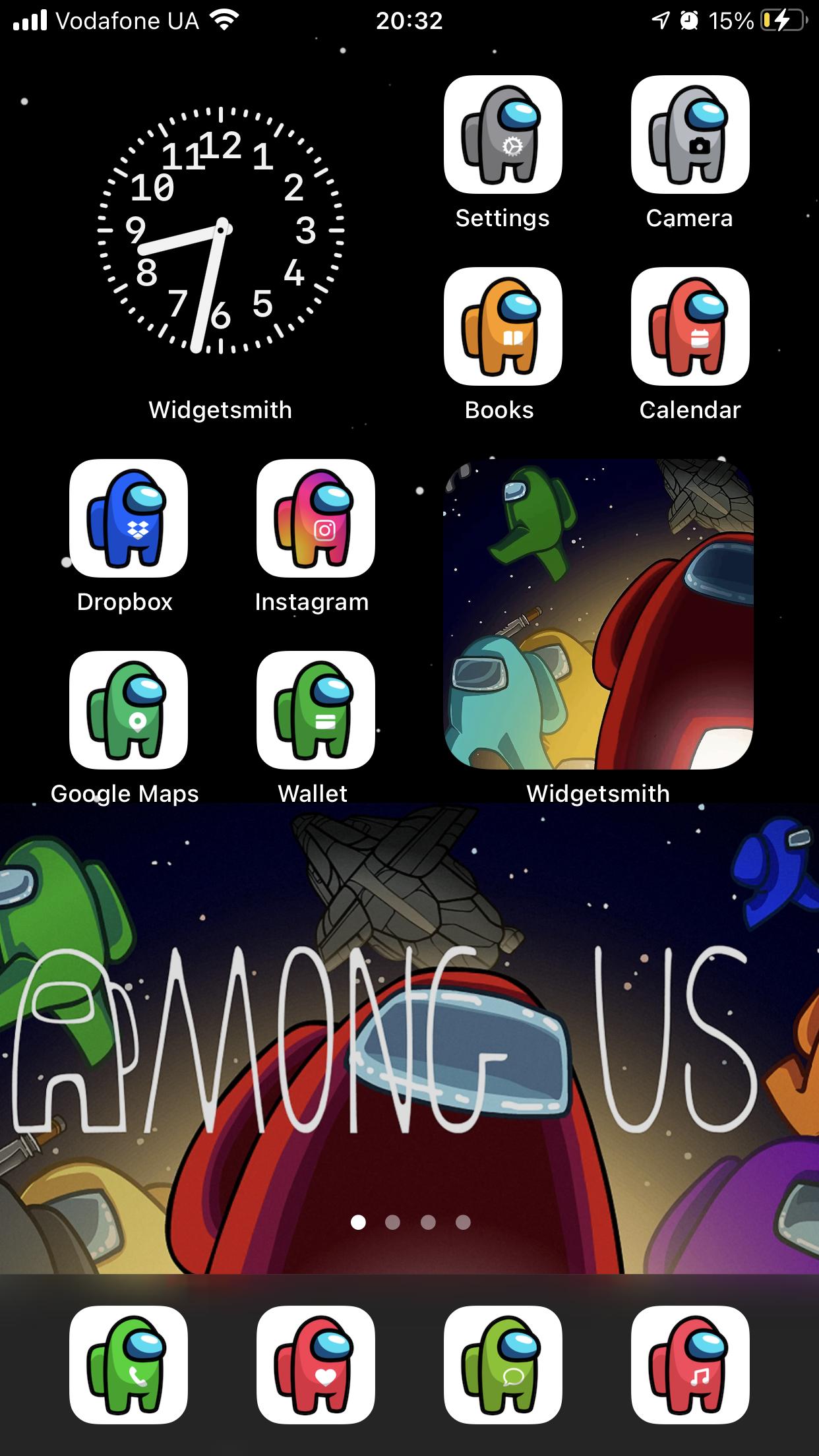 Among Us Ios 14 App Icons Ios14 Among Us Aesthetic Home Screen Among Us Iphone Ios14 Theme App Icon Iphone Wallpaper App Game Wallpaper Iphone