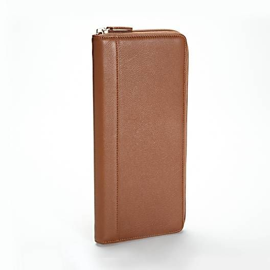 Tan Large Business Card Organizer | Full Grain Cognac Leather