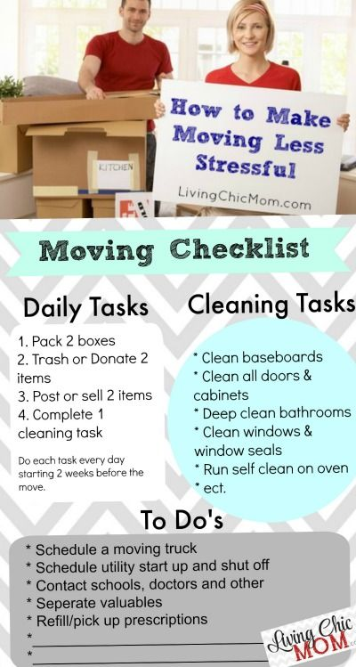 How To Make Moving Less Stressful  Printable Moving Checklist