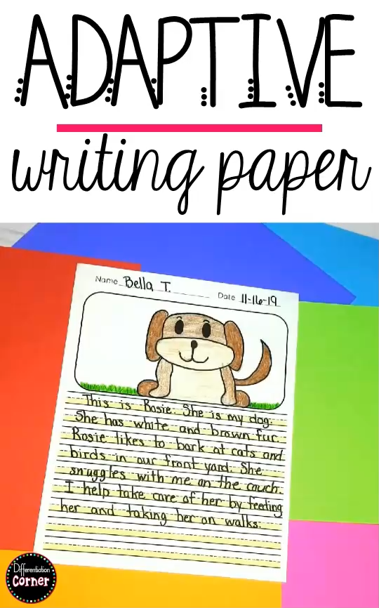 Highlighted Adaptive Writing Paper