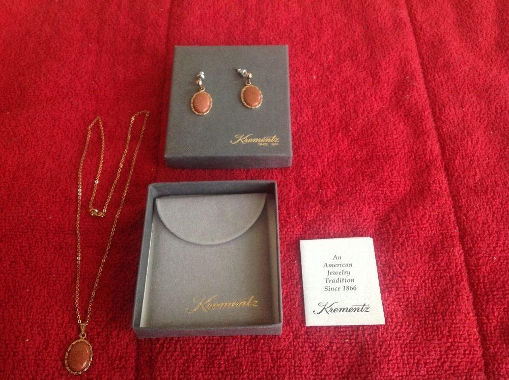 Vintage Krementz necklace and earrings #Krementz