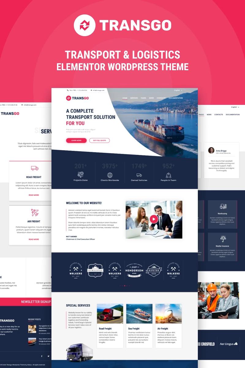 Transgo Transport Logistics Wordpress Elementor Theme 94945 Logistics Transportation Wordpress Website Design Wordpress Design