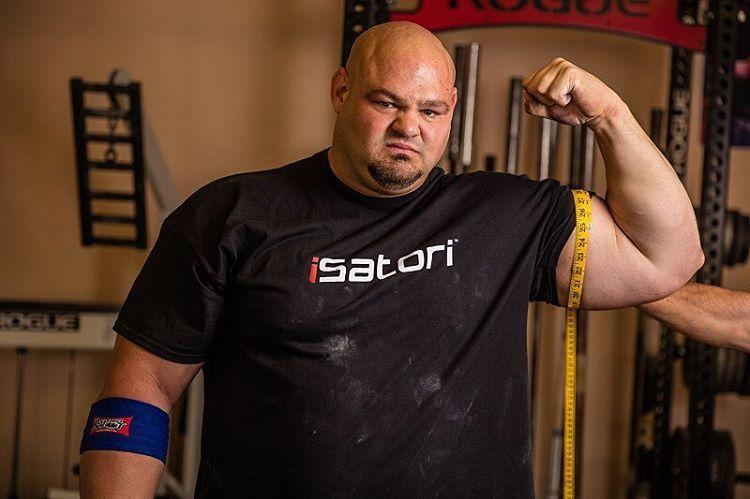 Brian Shaw 25 Inch Arms Bodybuilding Fitness Gym