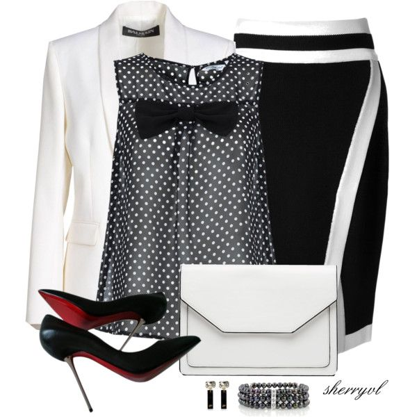 Black For Spring Contest, created by sherryvl on Polyvore