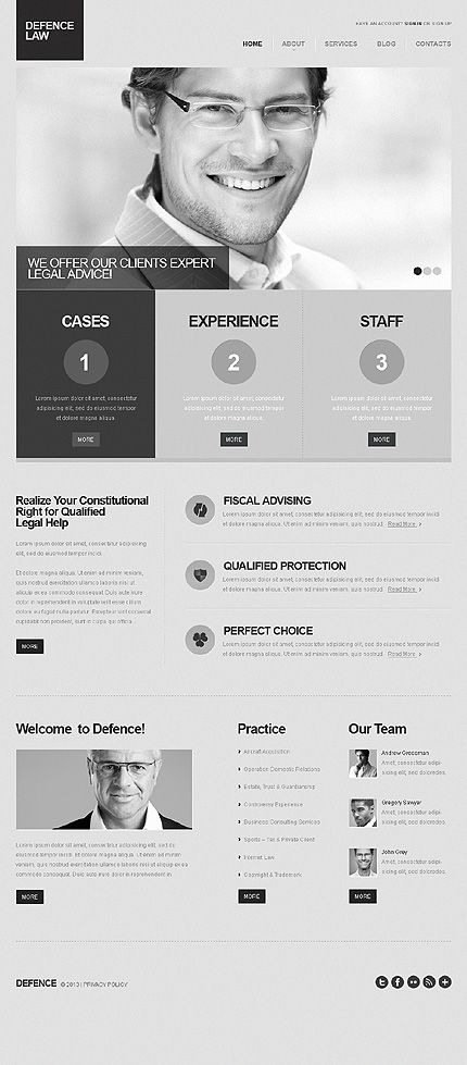 Grey Scale Law WordPress Theme Lawyer WordPress Themes - company information template