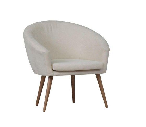 Stilvoller Sessel im Retro-Look in Weiß - gemütlich und schick ...
