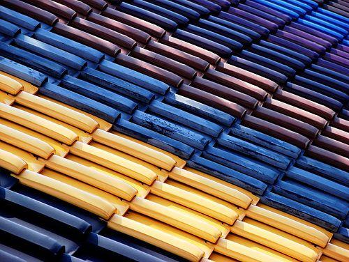 Best Colorful Kawara Blue Roof Yellow Tile Color Tile 640 x 480
