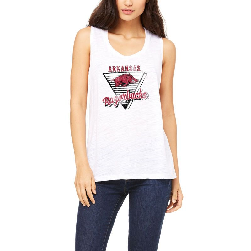 Arkansas Razorbacks Let Loose by RNL Women s Eighty Something Tri-Blend Muscle  Tank Top - White 78e0b4c1a
