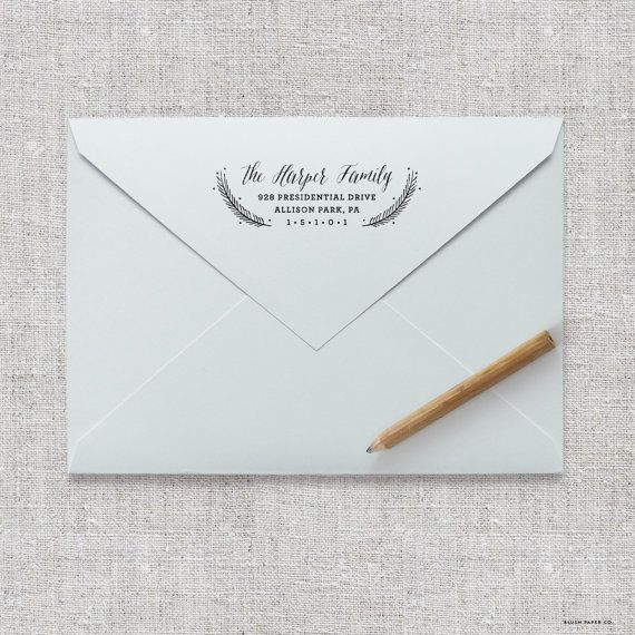 self inking return address stamp wedding invitation stamp save
